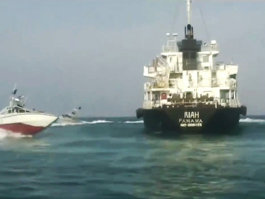 Iran Releases Dramatic Footage Showing IRGC Seizing Foreign Oil Tanker