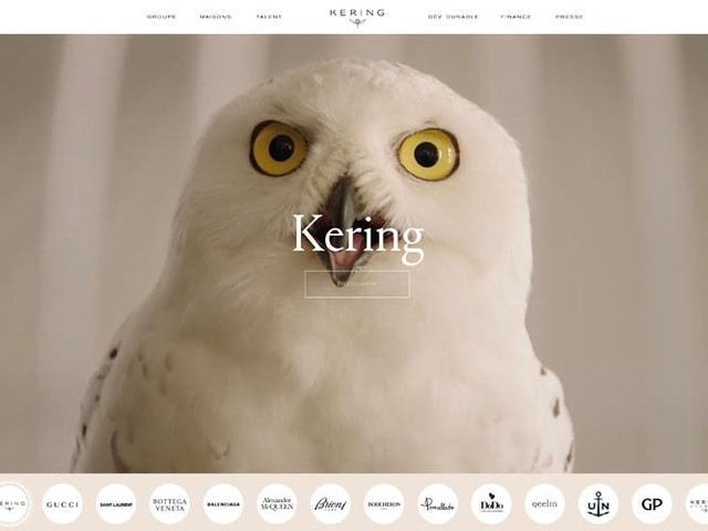Kering unveils new corporate website