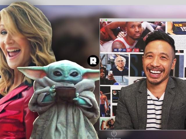 'NBA Desktop': Did Laura Dern Really See Baby Yoda at an NBA Game?