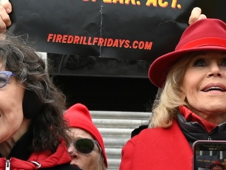 Video: Lily Tomlin Arrested at Jane Fonda Climate Change Protest
