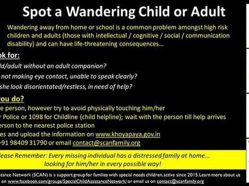 How to spot and help a missing child with disabilities