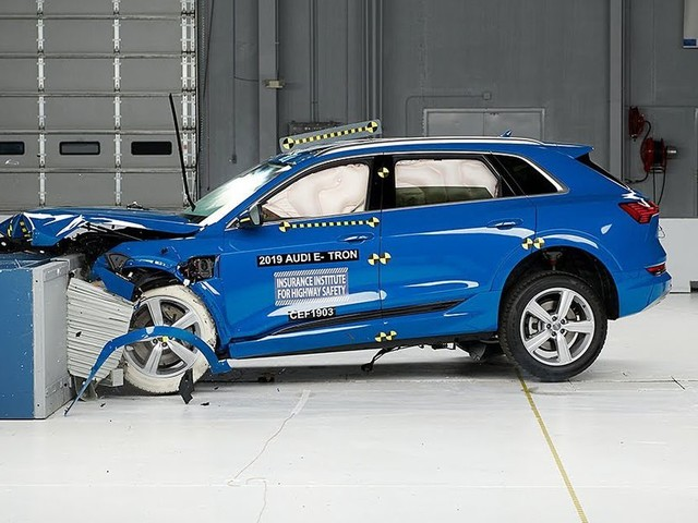 Audi's E-Tron becomes first electric car to win top safety award