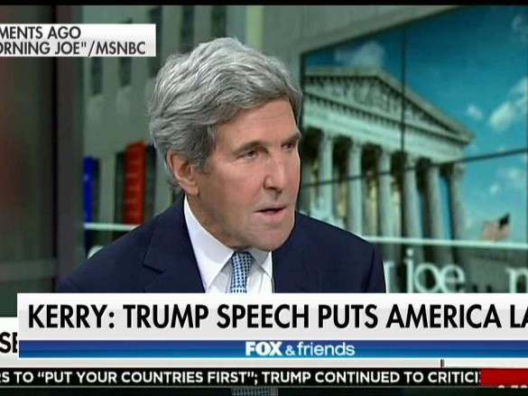 Trump United Nations John Kerry Speech Makes America Last