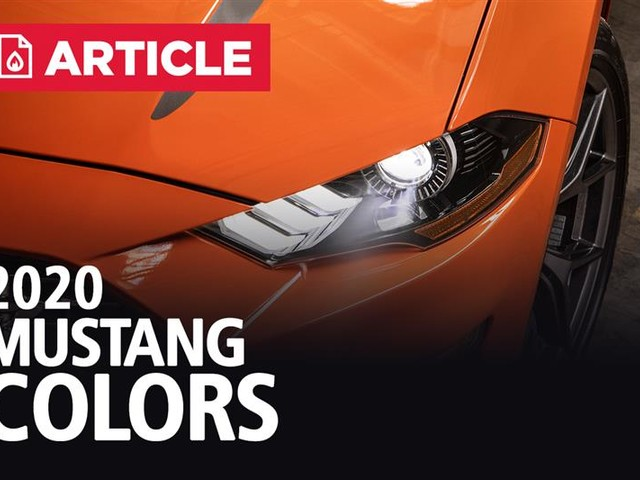2020 Mustang Colors - Options, Photos, & Color Codes