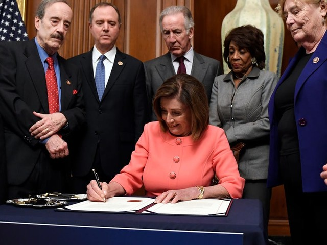 Nancy Pelosi's unprecedented gamble of holding fire on Trump's impeachment is paying off in spades