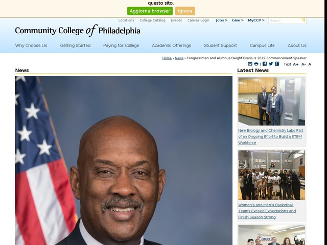 Congressman and Alumnus Dwight Evans is 2019 Commencement Speaker