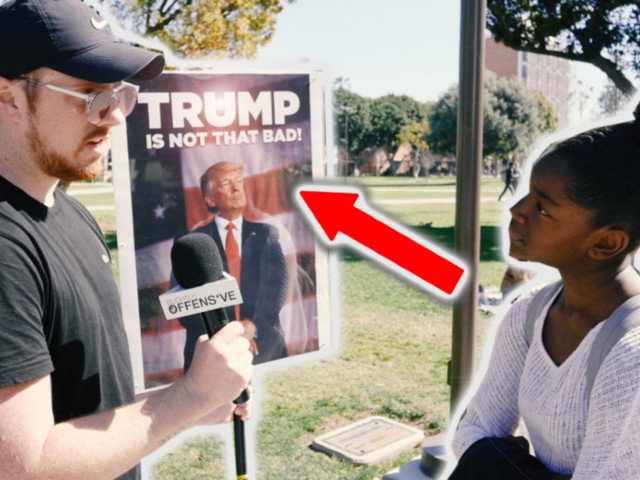 WATCH: Conservative host asks college students: 'Is Trump that bad?'