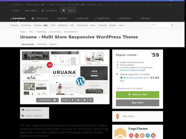Uruana - Multi Store Responsive WordPress Theme (WooCommerce)