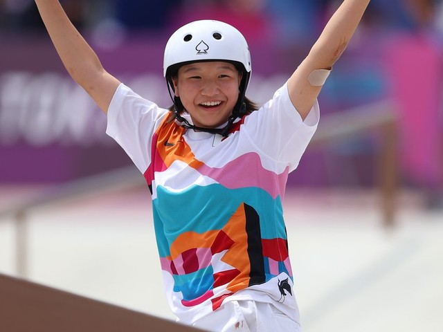13-year-old Momiji Nishiya is one of the youngest Olympic gold medalists ever