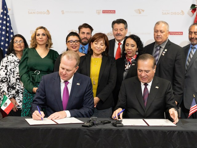 U.S.-Mexico Border Mayors Sign Resolutions in Support of USMCA and Infrastructure Funding