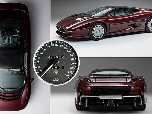 Barely-driven 1993 Jaguar XJ220 sells for record £460k at auction