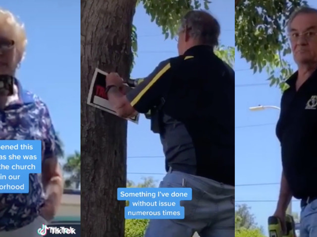 TikTok shows church members putting up 'No Trespassing' sign—only after a Black woman sits down to study
