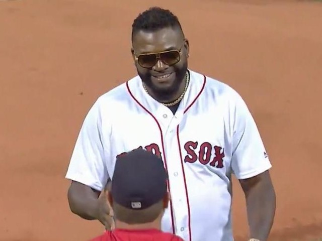 Watch: Boston Red Sox great David Ortiz throws out first pitch at Fenway Park
