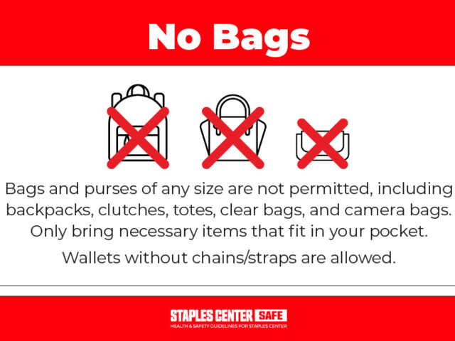 How the STAPLES Center bag policy is a barrier for accessibility