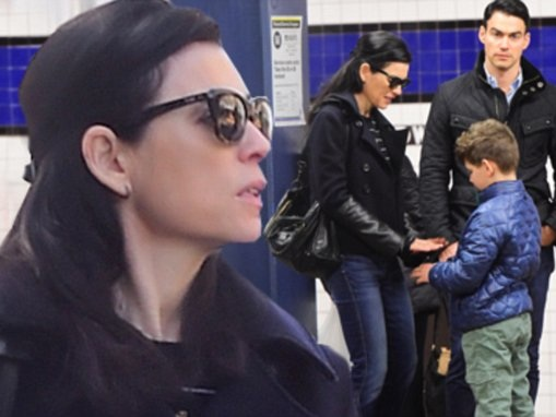 Julianna Margulies hops on the subway as she spends a family day with husband Keith Lieberthal and their son