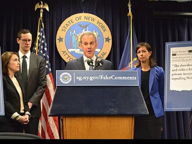 New York AG Schneiderman to lead multistate lawsuit challenging net neutrality rollback