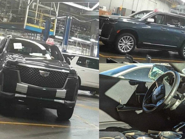 With the Chevy Tahoe and Suburban Revealed, Someone Has Leaked Images of the 2021 Cadillac Escalade