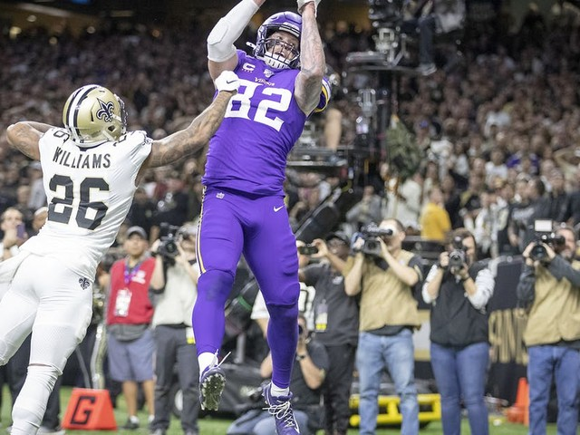 Vikings upset Saints in overtime in NFC wild-card playoff game