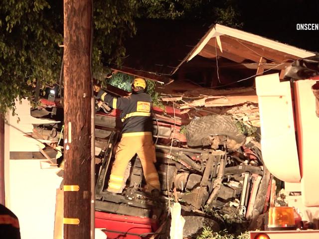 2 Dead, 3 Injured After Car Crashes Into Yorba Linda Home