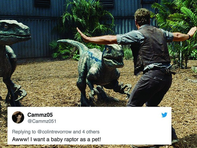 'Jurassic World' released a clip of Chris Pratt playing with a baby raptor and you need to see it