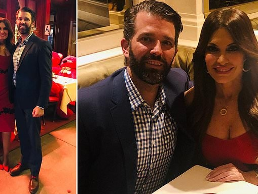 Love Trumps all! Don Jr and girlfriend Kimberly Guilfoyle celebrate their first Valentine's Day