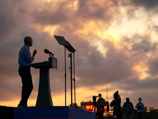 As Obama stumps for Biden, another chance to vanquish Trump and protect his own legacy