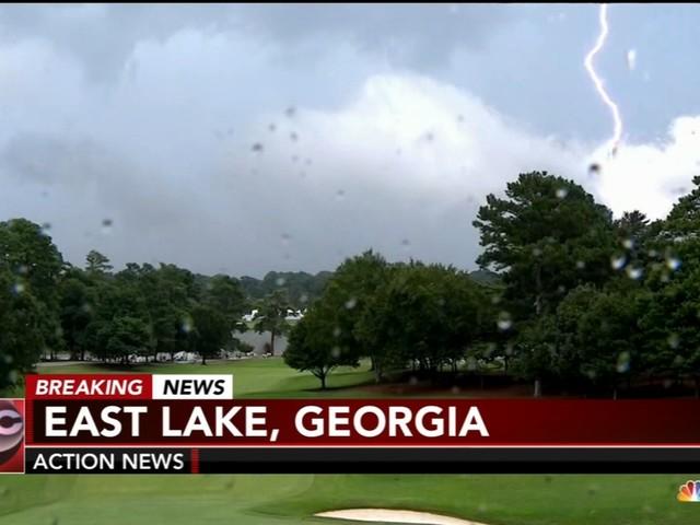 Lightning strike at Tour Championship causes fan injuries