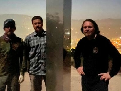 The Metal Artists Behind The California Monolith Explain How It Got There — And Why It's Back