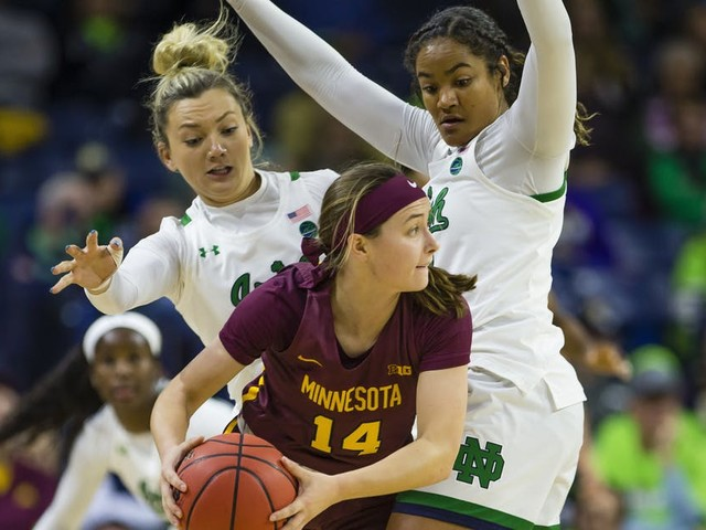 Gophers women's basketball beats Notre Dame in Big Ten/ACC Challenge