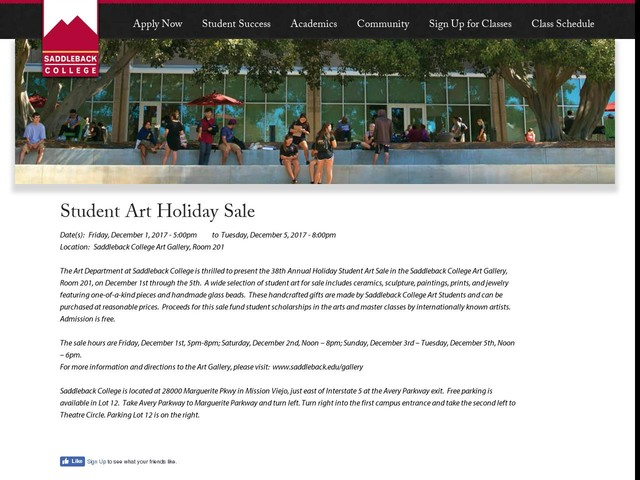 Student Art Holiday Sale