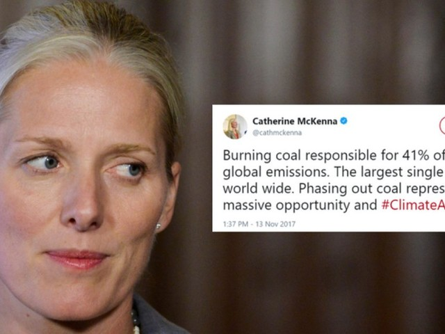 Catherine McKenna Tweets About Pitfalls Of Coal During U.S. Event Promoting It