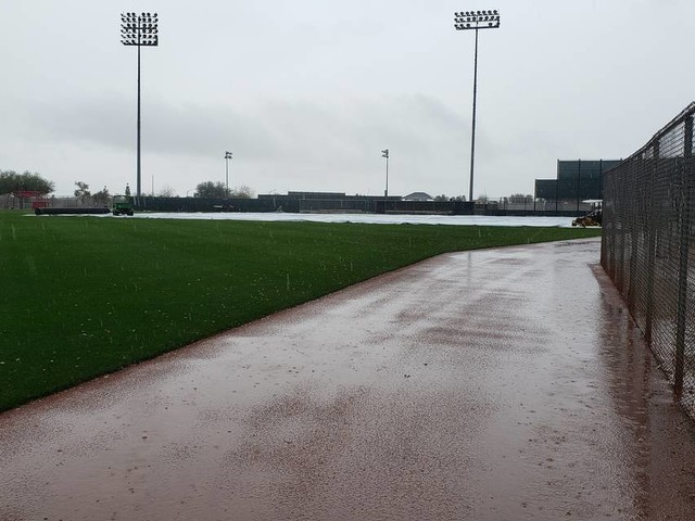 Rain is altering Rangers, Cactus League schedule