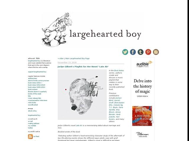 "Jaclyn Gilbert's Playlist for Her Novel ""Late Air"""