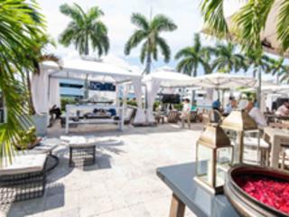 Haute Living Hosts 4 Days Of VIP Lounge At Island Gardens Superyacht...