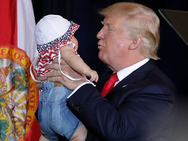 How candidates kissing babies became a major part of US political campaigns