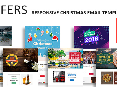 Offers - Responsive Christmas Email Newsletter Template with Stampready Builder Access (Newsletters)