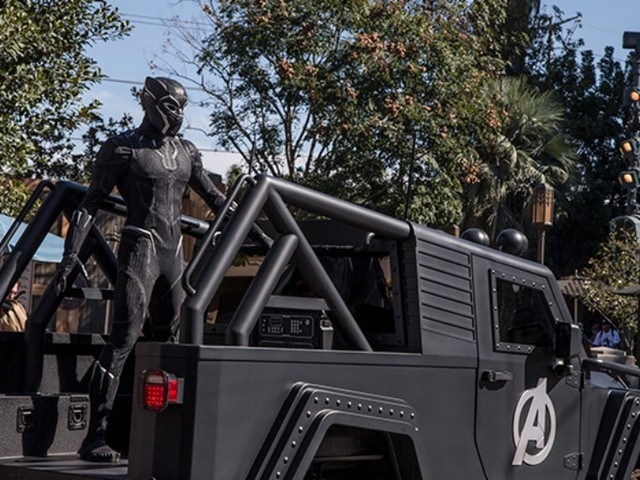 Black Panther Begins Meeting Guests at California Adventure
