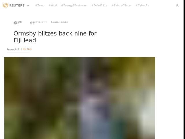 Ormsby blitzes back nine for Fiji lead