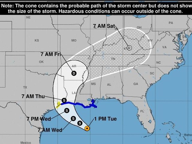 Watches and warnings for Gulf Coast ahead of Tropical Storm Cindy