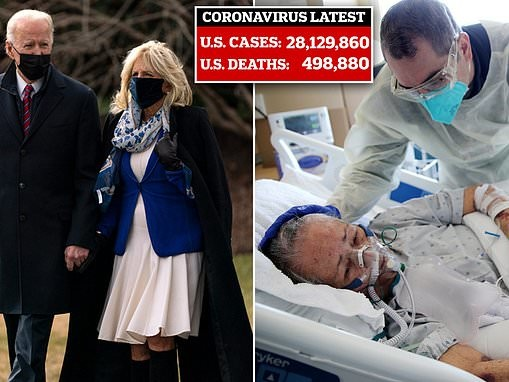 Joe Biden will hold candlelight ceremony at sunset as nation approaches 500,000 COVID deaths