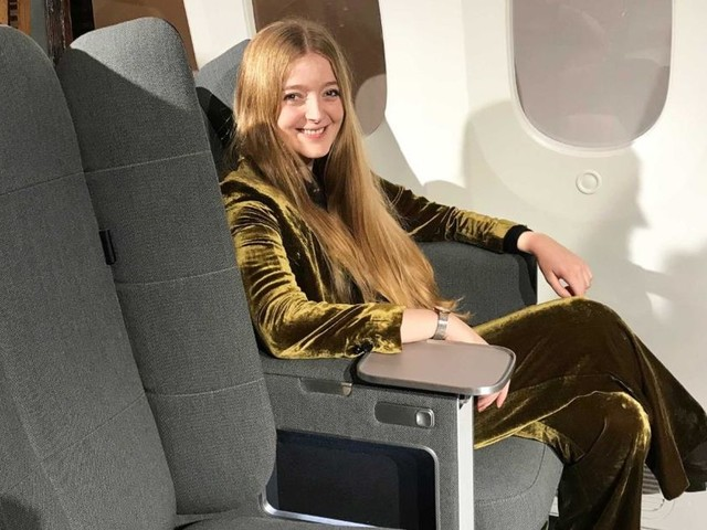 New airplane seat makes it easier to sleep in economy