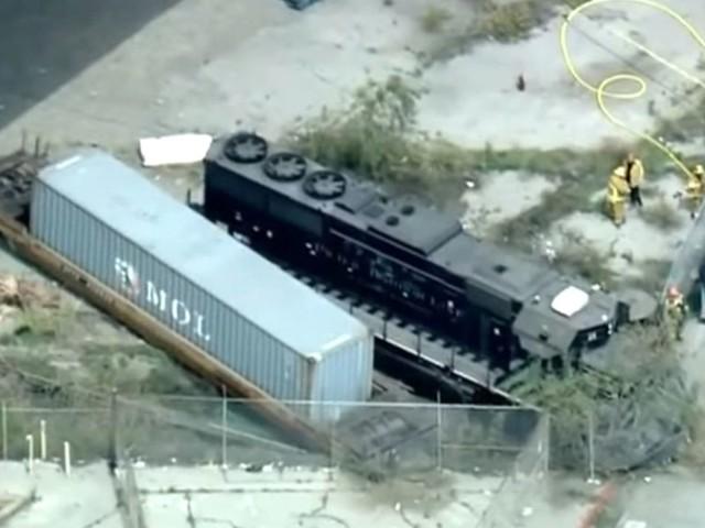 Locomotive engineer tried to ram train into hospital ship in Los Angeles