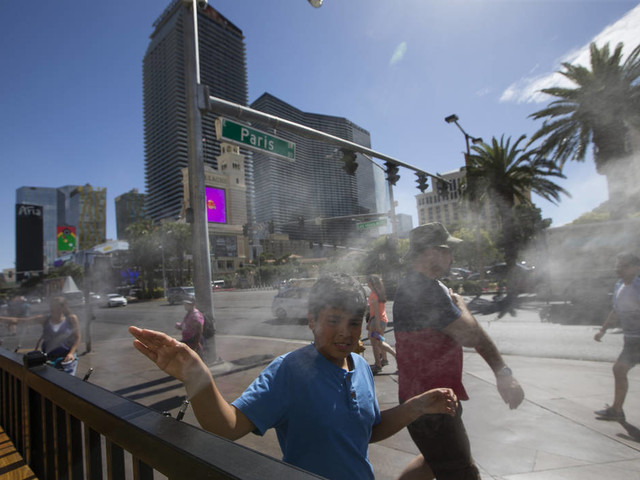 Temperatures expected to set records in Las Vegas