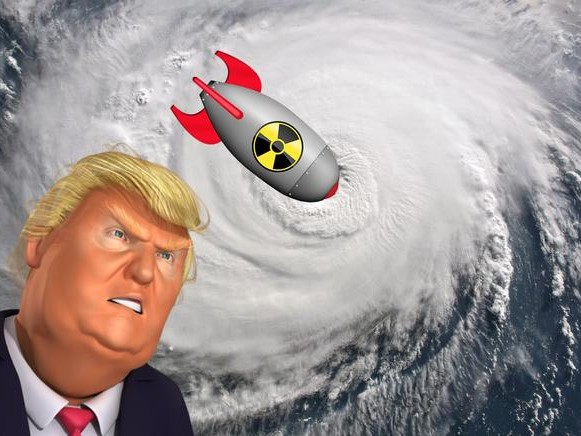 Hurricane Time, Mr. President. Dorian Needs To Be Nuked!