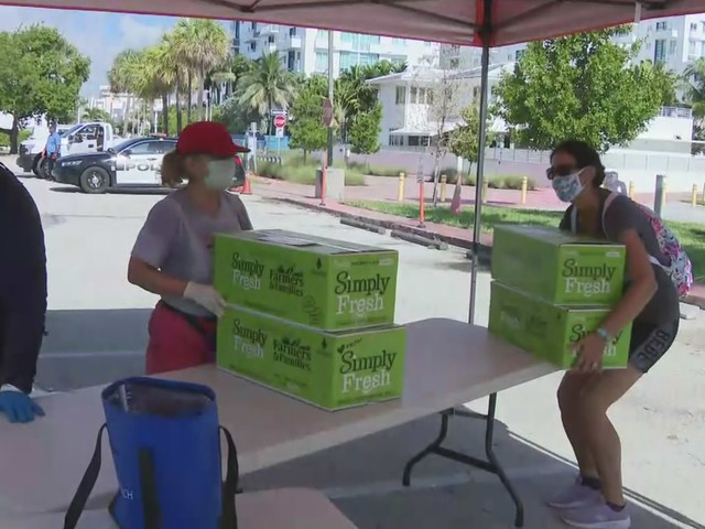 City Of Miami Beach Hosts Food Distribution