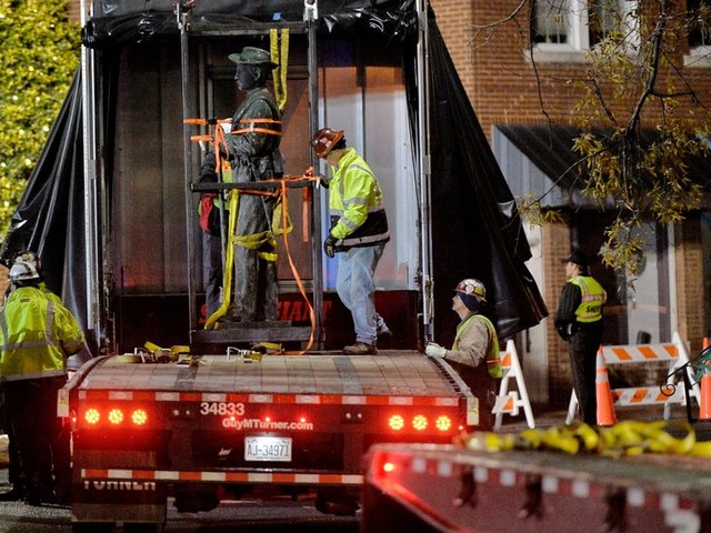 Confederate Statue in North Carolina Comes Down After 112 Years