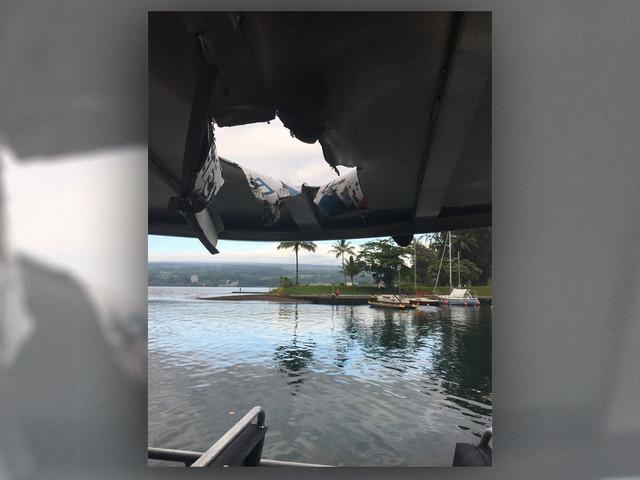 Lava Bomb Slams Boat Tour in Hawaii, Injuring 23
