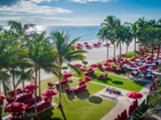 Enjoy a Picnic in Paradise in the New Outdoor Living Room at Acqualina...