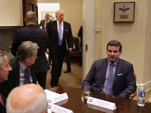 Under Armour's public break with Trump was months in the making