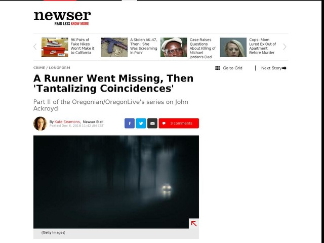 A Runner Went Missing, Then 'Tantalizing Coincidences'